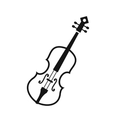 Cello icon in simple style vector image vector image