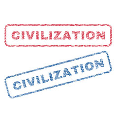 Civilization textile stamps vector