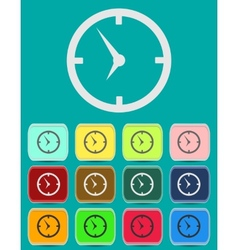 Clock face - icon isolated vector image