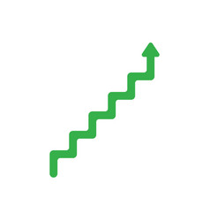 flat design style concept of line stairs symbol vector image vector image