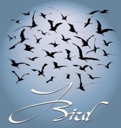flock of birds vector image vector image