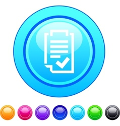 Form circle button vector image vector image