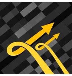 golden grow up arrow vector image vector image