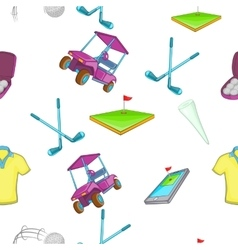 Golf pattern cartoon style vector image vector image