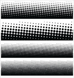 halftone elements for your design vector image vector image