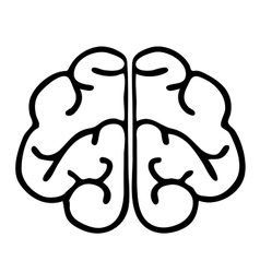 High quality original brain icon vector