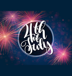 Independence day greetings card with hand vector