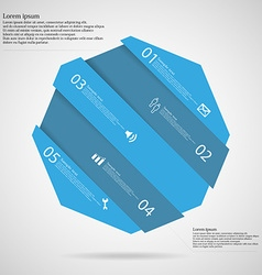 Infographic template with octagon askew divided to vector image vector image