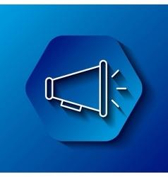 Megaphone icon Communication design over hexagon vector image vector image