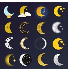 Moon month vector image vector image