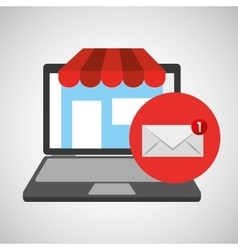 online store shopping email graphic vector image