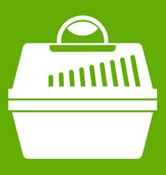 portable cage for pets icon green vector image