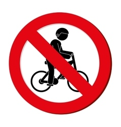 Prohibited sign bicycle extreme sport athlete vector