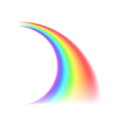 Rainbow curved line iconrealistic style vector