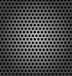 Seamless circle metal surface texture vector image