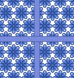 Seamless pattern of simple shapes vector image