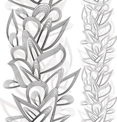 Seamless vertical floral abstraction vector image vector image