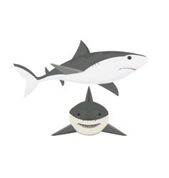 shark character vector image vector image