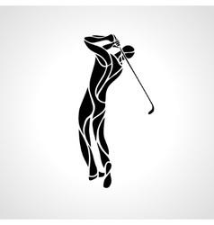 Silhouette of golf player eps8 vector