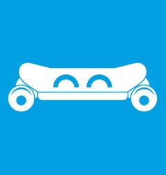 Skateboard deck icon white vector