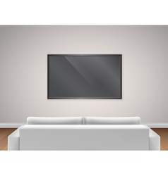 sofa and TV back view vector image vector image