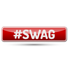 Swag - abstract beautiful button with text vector