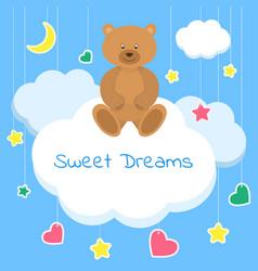 sweet dreams colorful sleep vector image vector image