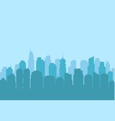 urban city landscape modern skyscraper silhouette vector image