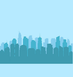 urban city landscape modern skyscraper silhouette vector image vector image