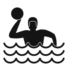 Water polo icon simple style vector
