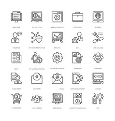 web design and development icons 7 vector image vector image