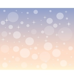 Christmas snowfall at dawn vector