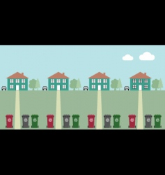 Street recycling collection vector