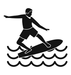 Surfer icon simple style vector