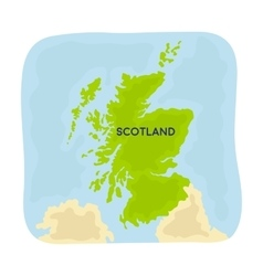 Territory of scotland icon in cartoon style vector