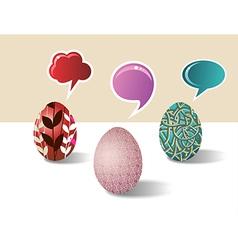 Social media Easter egg set vector image