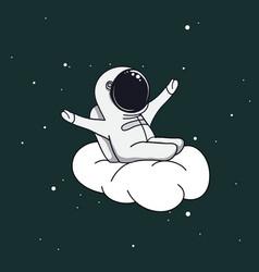 spaceman on cloud vector image