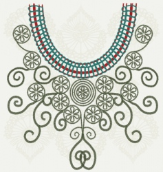 collar design vector image