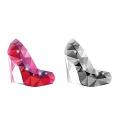 mosaic shoes vector image