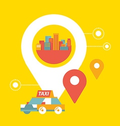 Taxi service and navigation in city vector