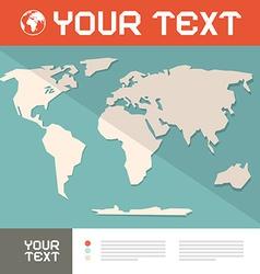 World map paper cut vector