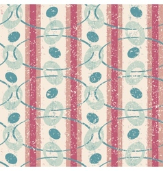 Vintage pattern with ovals vector