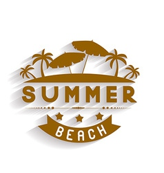 Retro summer holidays labels and signs desi vector