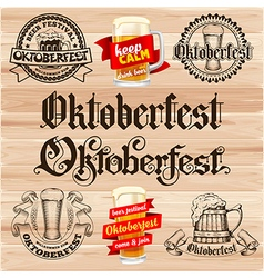 Oktoberfest labels vector image
