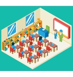 Education and school class isometric 3d concept vector