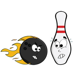 Angry bowling ball vector