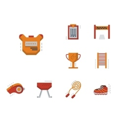Flat simple icons for physical education vector
