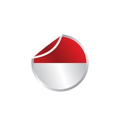 Glossy theme indonesia national flag vector
