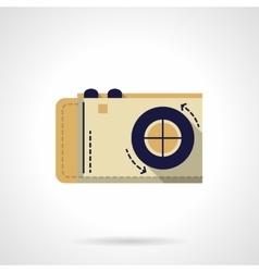 Photo camera flat color icon vector image