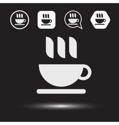 Mug of tea icon morning coffee logo vector